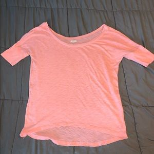 Aerie Wide Neck Off Shoulder Slouchy Lounge Top